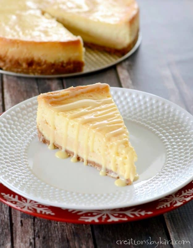 Recipe for Dulce de Leche Cheesecake. Creamy cheesecake drizzled with caramel.