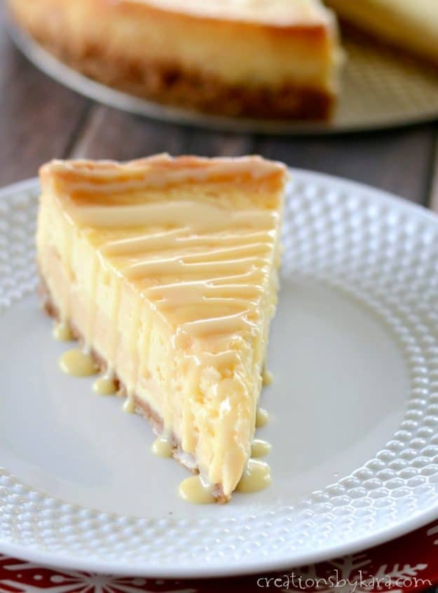 Dulche de Leche Cheesecake is a decadent dessert sure to impress your guests. #cheesecake #caramel