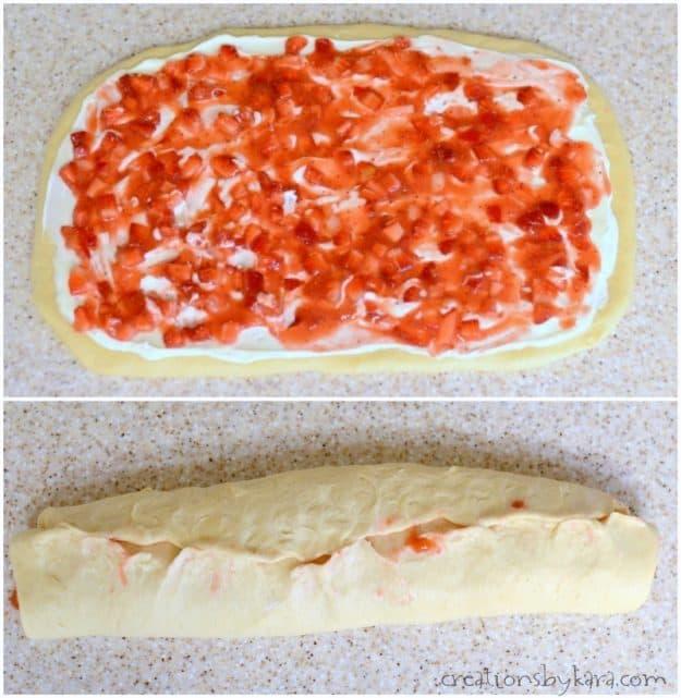 How to make overnight strawberry rolls
