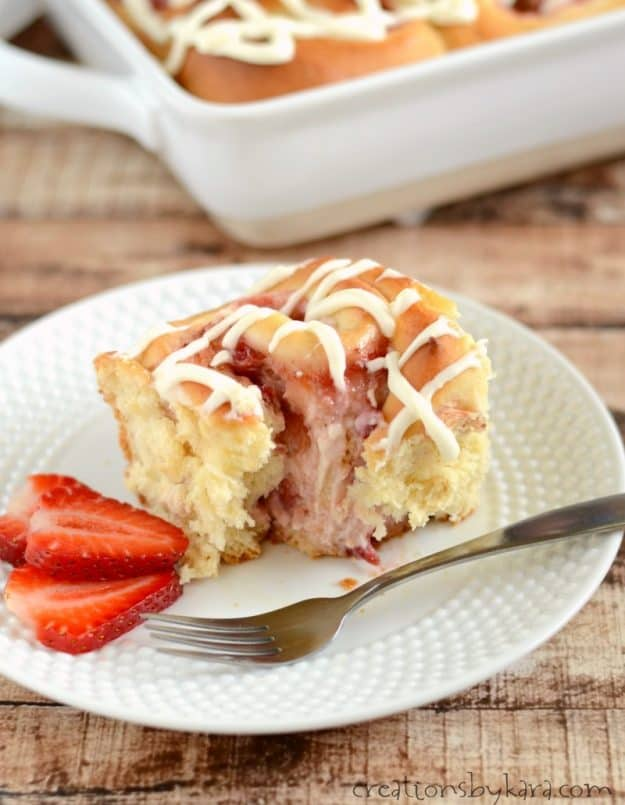 You will love these strawberry rolls. You do most of the work the night before!