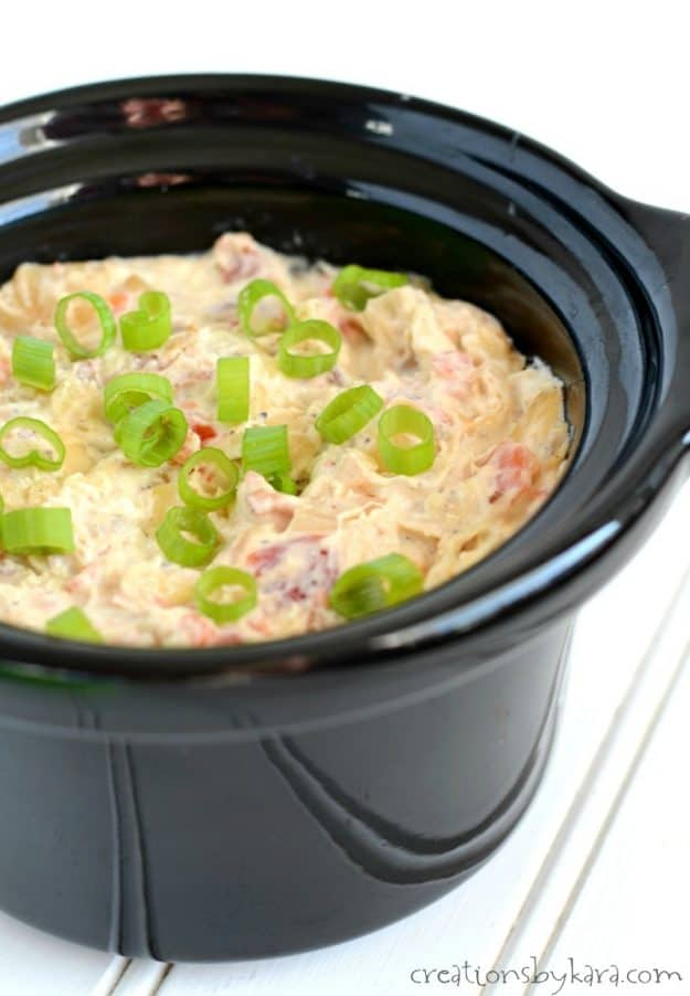 Spicy Cheesy Bacon Dip is a perfect game day appetizer.