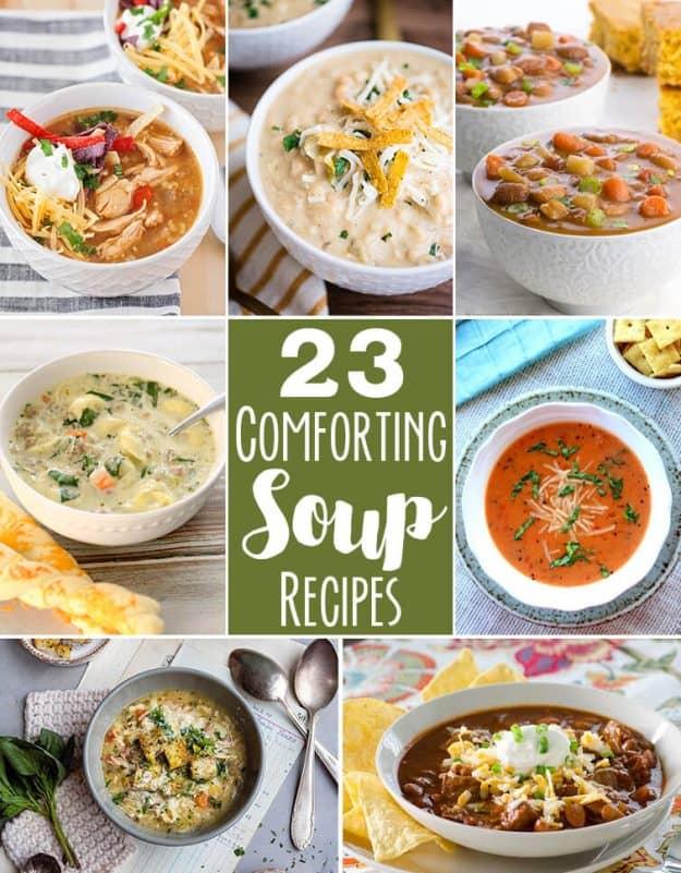 twenty three comforting soup recipes