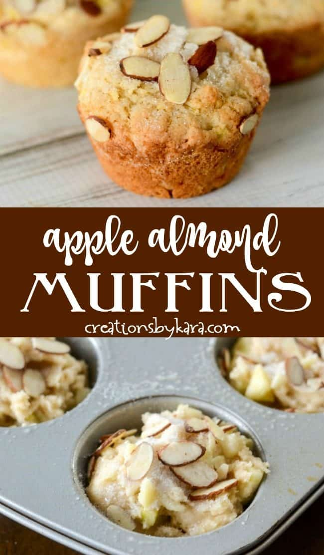 Apple Almond Muffins recipe Collage