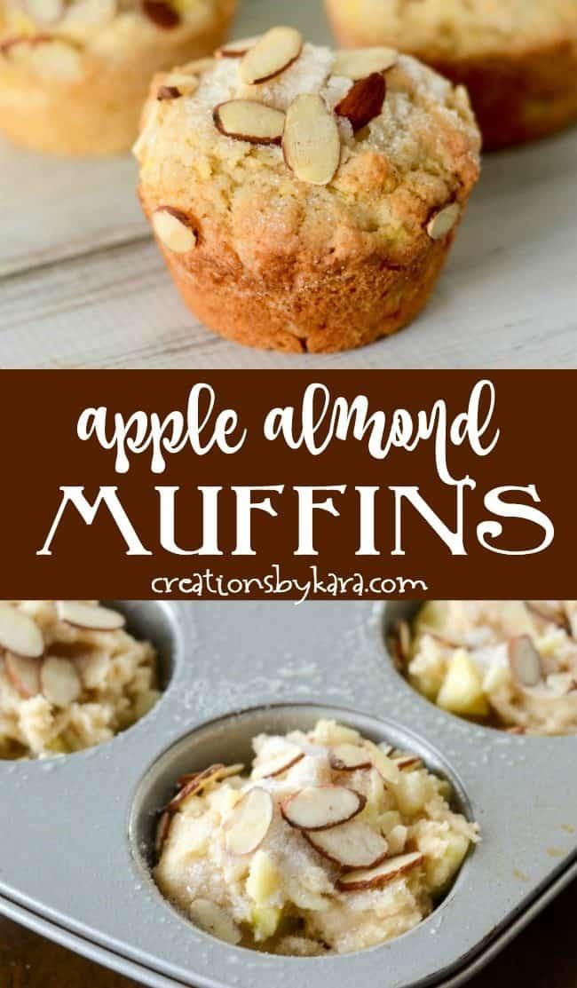 Apple Almond Muffins recipe Collage