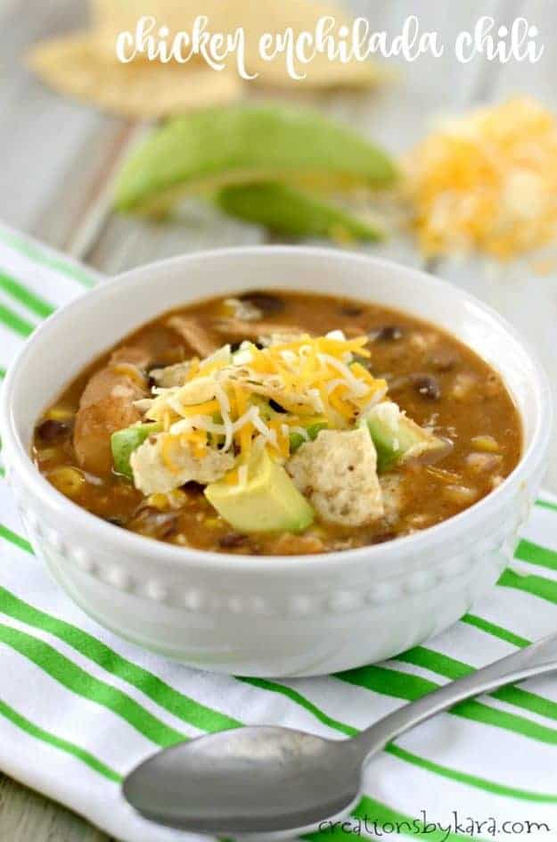 Recipe for easy Chicken Enchilada Chili