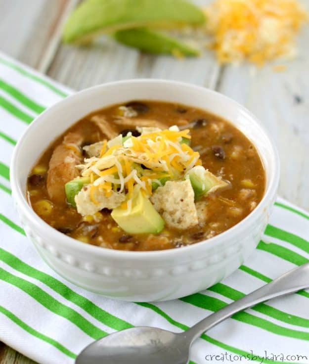Everyone in my family loved this chicken enchilada chili!