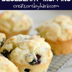 blueberry muffins with sour cream collage