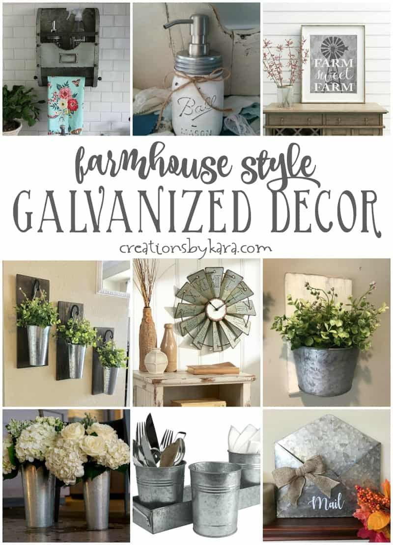 Farmhouse style galvanized decor creations by kara for House of decor
