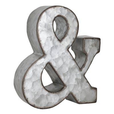 chunky galvanized ampersand