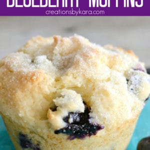 blueberry muffins with sour cream pinterest pin