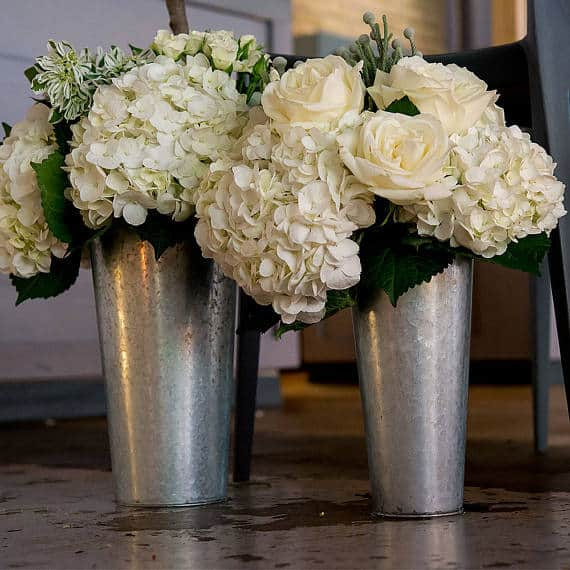 galvanized wedding vases