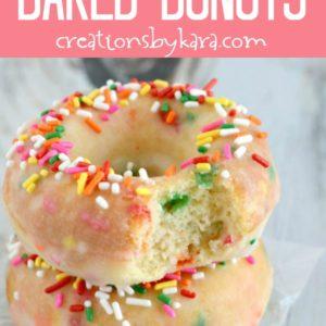 baked funfetti donuts recipe