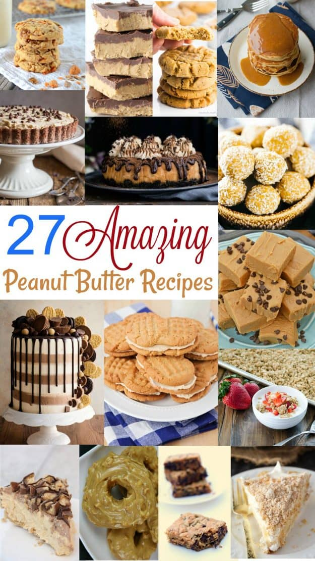 peanut butter recipes collage