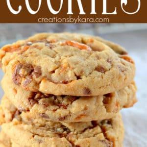 peanut butter butterfinger cookies pinterest pin