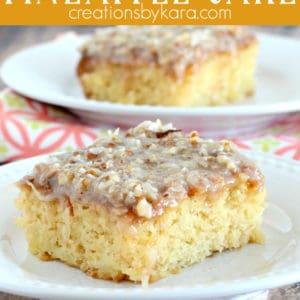 easy warm pineapple cake recipe pinterest pin