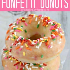 baked funfetti donuts recipe Pinterest Pin