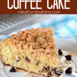 Coconut Chocolate Chip Coffee Cake Pinterest Pin