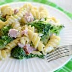 Easy Creamy Ham Broccoli Pasta