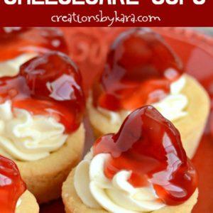 mini cherry cheesecake cups