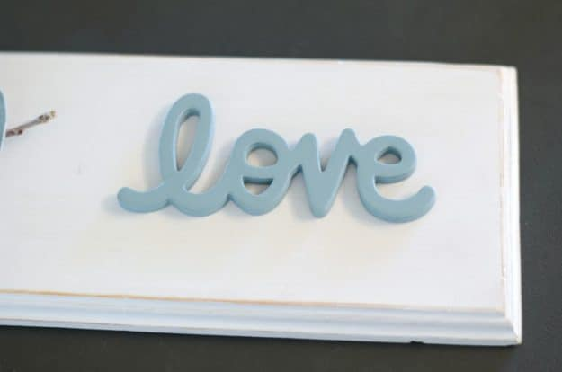 wood love bird sign tutorial