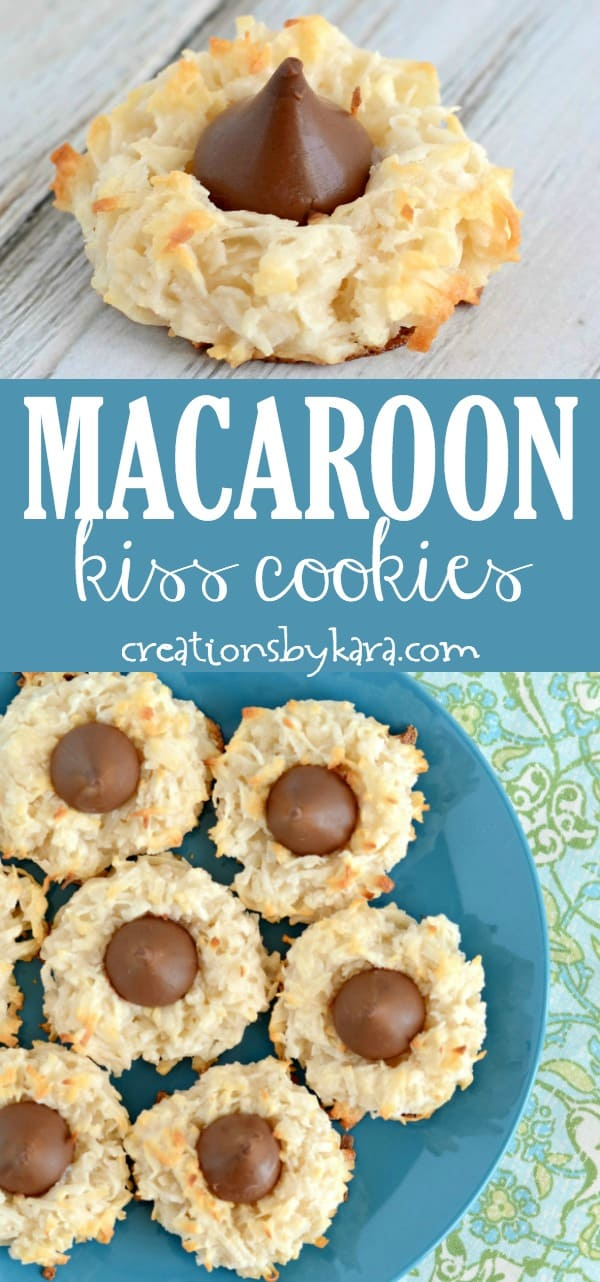 chewy coconut Macaroon Kiss Cookies recipe collage