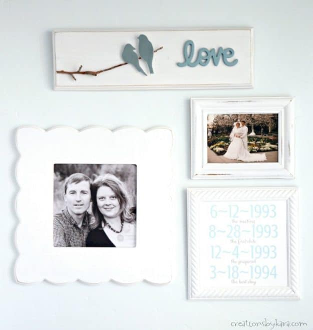 DIY Master Bedroom Decor - love bird wood sign #birdwoodsign #bedroomdecor