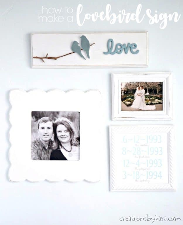 Master Bedroom decor - love bird sign