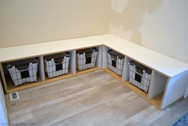 instructions for corner mudroom bench