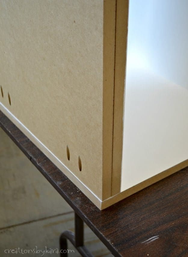 Two layers of mdf on bottom of mudroom bench
