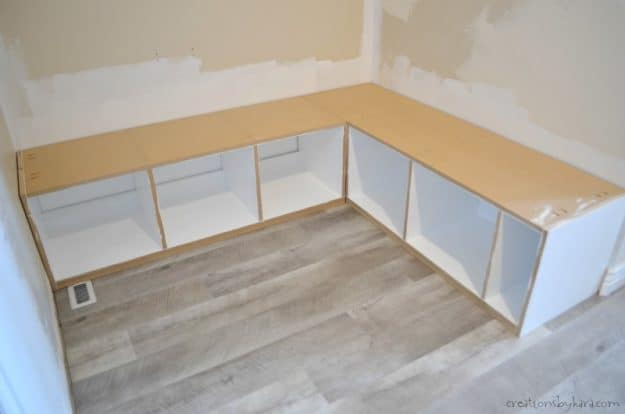 corner mudroom bench instructions