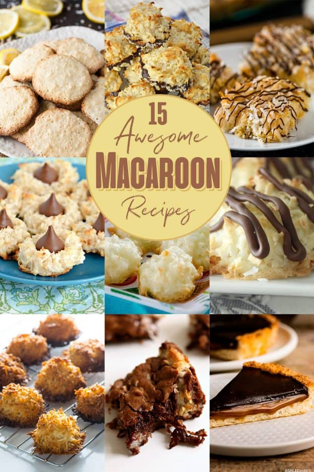macaroon recipe roundup collage