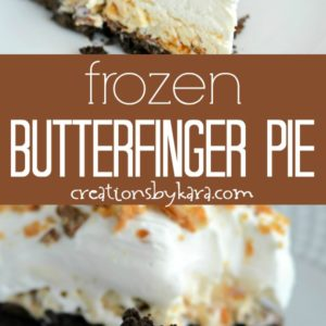 frozen butterfinger ice cream pie