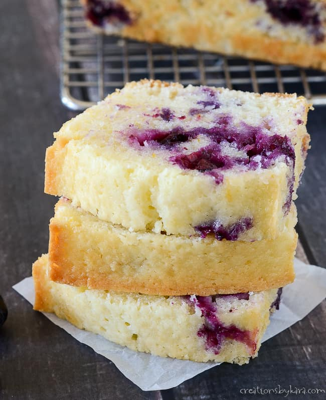 Tasty lemon blueberry bread recipe