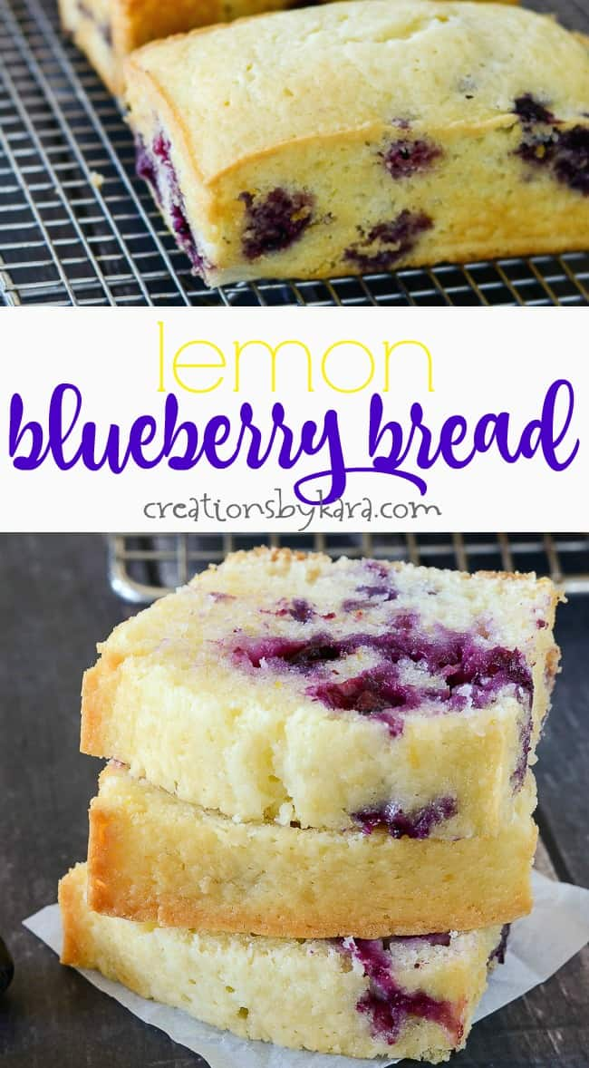 Lemon Blueberry Bread collage