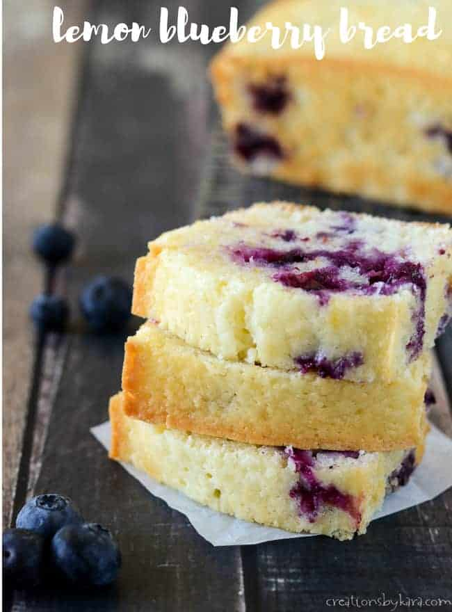 Tasty recipe for lemon blueberry bread