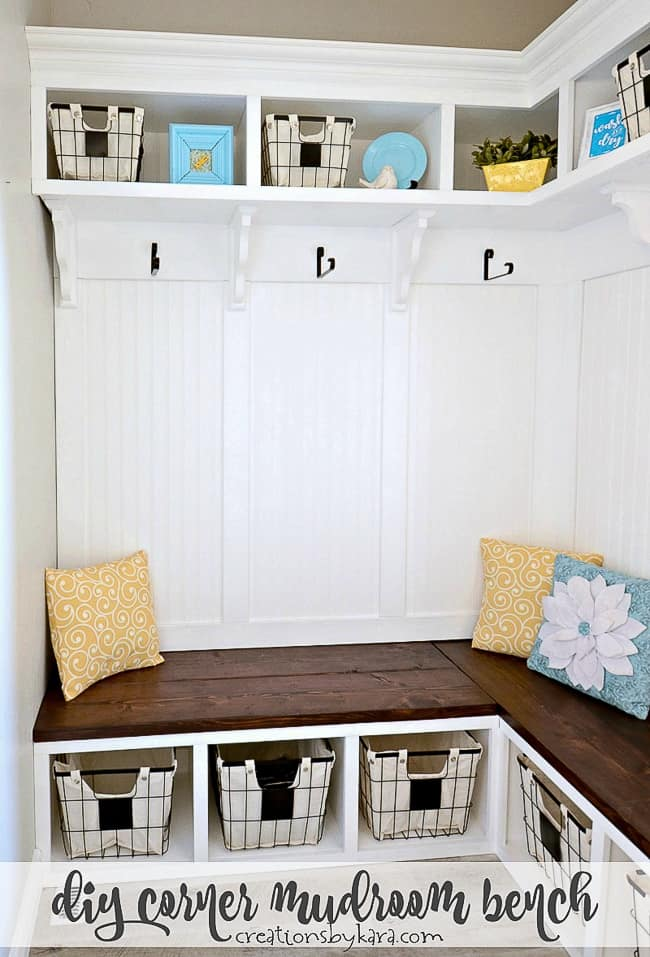 DIY Corner Mudroom Bench Tutorial