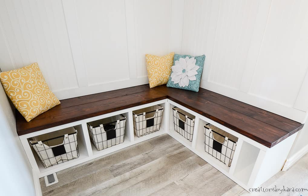 Mudroom Corner Bench Tutorial