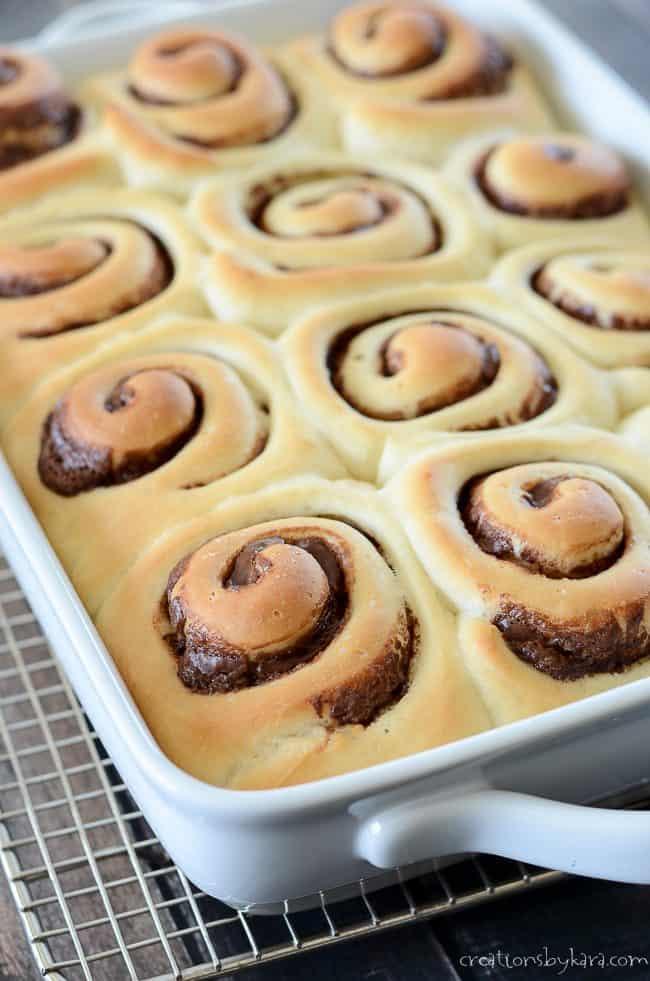 Fresh baked nutella rolls