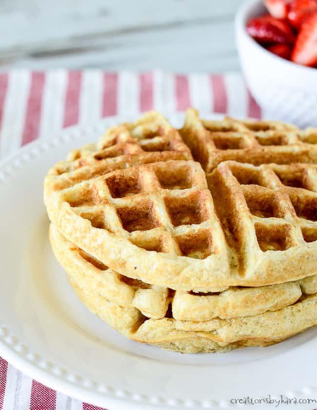 plain oatmeal waffles