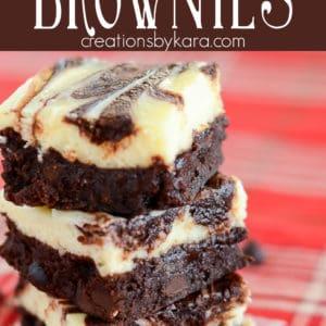 swirled cheesecake brownie recipe pinterest pin