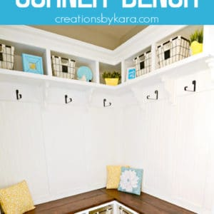 corner bench tutorial pinterest pin