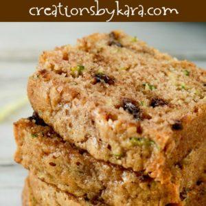 chocolate chip zucchini bread recipe title photo