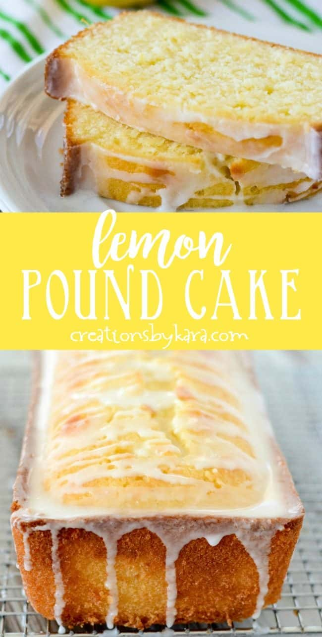 Lemon Pound Cake recipe Collage