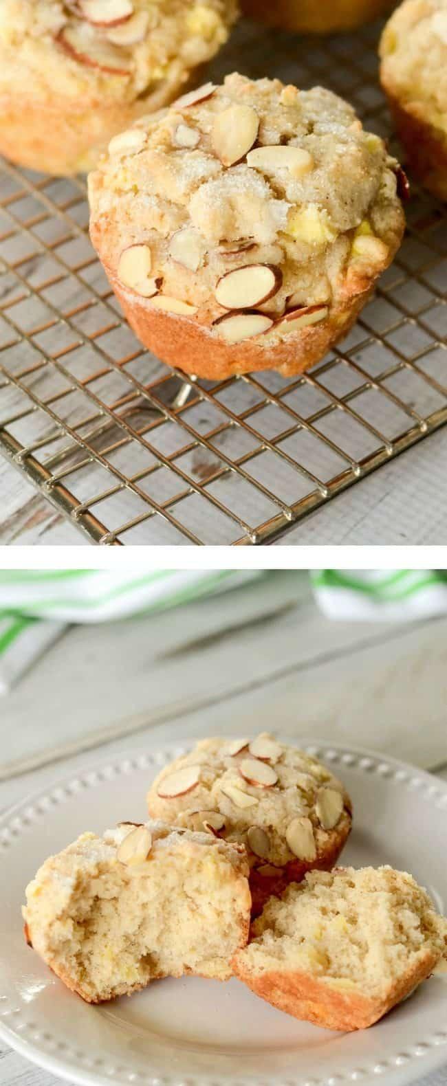 apple almond muffin photos