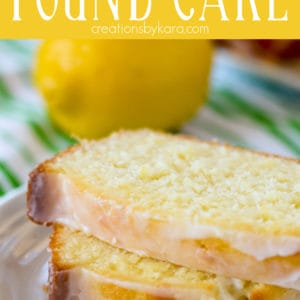 moist lemon pound cake with glaze pinterest pin