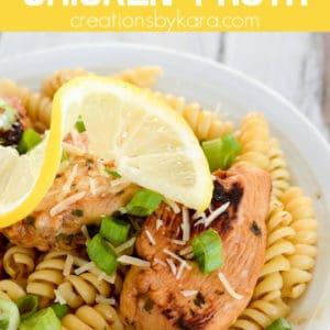 lemon chicken pasta pinterest pin