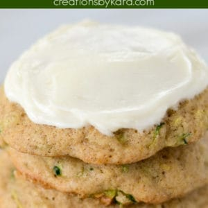 zucchini cookies with cream cheese frosting pinterest pin