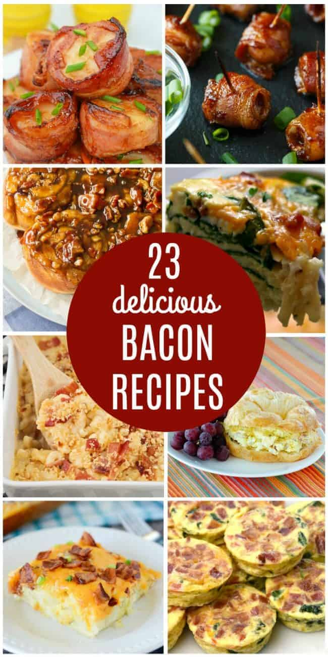 23 delicious bacon recipes collage