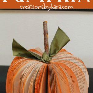 easy book page pumpkin tutorial