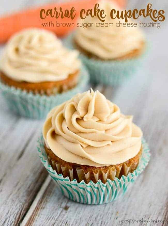 Carrot Cake Cupcakes with Brown Sugar Cream Cheese Frosting title page